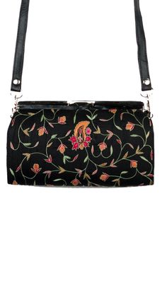 Embroidered Hardbodied Clutch - Black by Moyna