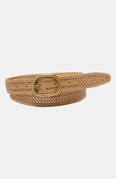 Fossil Perforated Leather Belt available at #Nordstrom