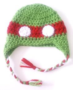 newborn ninja turtle hat (red) $15