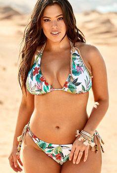 #Valentines #AdoreWe #SwimsuitsForAll - #s4a Ashley Graham x Swimsuits For All Marrakesh Bikini - AdoreWe.com
