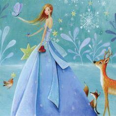 Nuevo Princesa DE Hielo CON Brillo Mila Marquis Postal 14 X 14 CM 349 | eBay