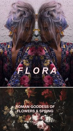 """""""In Roman mythology, Flora was a Sabine-derived goddess of flowers and of the season of spring- a symbol for nature and flowers (especially the may-flower). While she was otherwise a relatively minor figure in Roman mythology, being one among several fertility goddesses, her association with the spring gave her particular importance at the coming of springtime, as did her role as goddess of youth."""" #myth"""