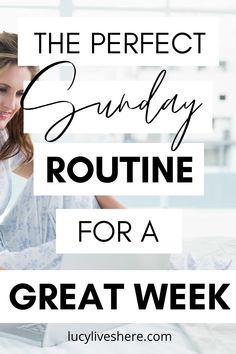 Want your Sunday to be productive and restful at the same time? You've come to the right place! My perfect Sunday time combines self-care with simple productivity tips to ensure you get the most out of your week. Create your perfect self-care Sunday routine today! Rest, recharge, and have a great week! #sundayroutine #selfcare #sunday