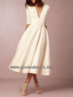 Elegantes Weisses Sommerkleid