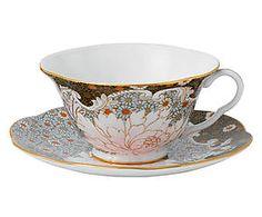Tasse à thé et sous-tasse DAISY TEA STORY porcelaine de Chine, multicolore - Ø15