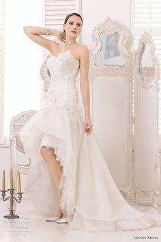 divina sposa wedding gowns 2013 strapless wedding dress high low skirt