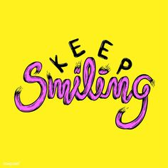 Illustration of keep smiling phrase vector | free image by rawpixel.com