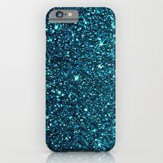 blue sparkle iPhone & iPod Case
