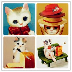 gatos, ilustraciones de Lancy Cat
