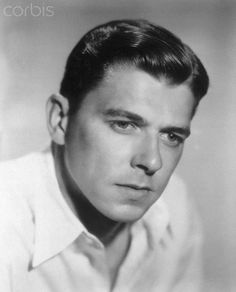In Hollywood Days. Direct from the files of Warner Brothers, this is a portrait of Ronald Reagan in his early Hollywood years. 40th President, President Ronald Reagan, Former President, Greatest Presidents, American Presidents, Us Presidents, Maureen Reagan, Nancy Reagan, Hollywood Men