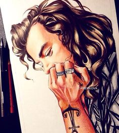 Harry Styles Más << this is amazing Tatuajes Harry Styles, Harry Styles Dibujo, Harry Styles Drawing, One Direction Fan Art, One Direction Drawings, Fanart, Harry Styles Zeichnung, Desenhos One Direction, Harry Styles Pictures