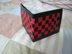 Duct Tape wallet Black and Red Security Wallet by Aluminumguy, $8.00