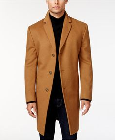 $139, Kenneth Cole Reaction Raburn Wool Blend Over Coat Slim Fit. Sold by Macy's. Click for more info: https://lookastic.com/men/shop_items/347708/redirect