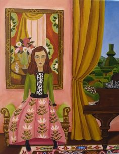 """The Piano Lesson"", painting by artist Catherine Nolin. Acrylics on canvas, 2011."