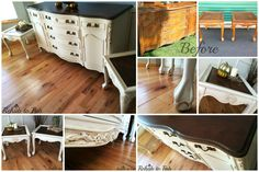 https://www.facebook.com/RehabtoFab This credenza was rehabbed completely in @generalfinishes . Top was sanded down to bare wood then lathered in the color Java gel stain & sealed with Arm-R-Seal. The body was painted in GF's Antique White and glazed with my favorite Van Dyke brown glaze. Her boys have the exact same thing done & you would never know they were bought separately.