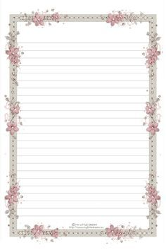 Blue Floral  Printable Stationery Journal Page ToDo List