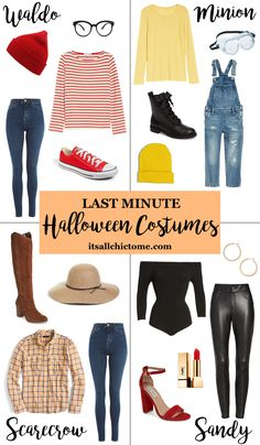 Last minute easy Halloween costume ideas #halloween #halloweencostumes #halloweenparty