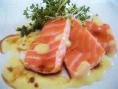 Seared Salmon With Miso Sauce And Ponzu www.bennydoro.com