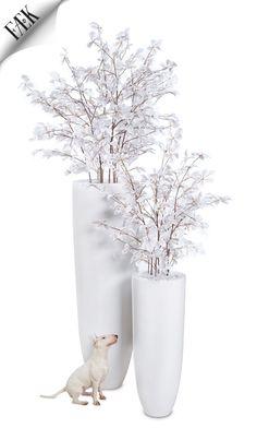 FÆK | Flowers Snowwhite - Big & Medium  Artikelnummer: 7030 & 7031  artificial / fake flowers - artificiële bloemen - white - wit - rental - verhuur / huren - events - evenementen - party - feest - decoration - decoratie