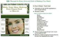 Find out how to make your own makeup with natural ingredients using foods or minerals. Easy recipes you can make with items in your kitchen.