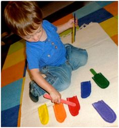 Color Matching with Popsicle sticks.... There are only two ways to live your life.: Montessori for 19 to 20 Month Olds
