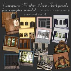Brenda from Ditz Bitz says : I've been on a roll making room backgrounds.  These are all CU ok. Ditz Bitz Freebies group members get a 30% discount on any of th