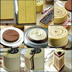 This is How You Can Make a Striped Cake bolo listrado Food Cakes, Cupcake Cakes, Striped Cake, Decoration Patisserie, Cake Decorating Tips, Diy Cake, Creative Cakes, Creative Ideas, Let Them Eat Cake