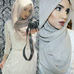 Modest Fashion, Hijab Fashion, Fashion Dresses, Hijab Makeup, Hijab Style Tutorial, Hijabi Girl, Hijab Dress, Satin Top, Casual Outfits