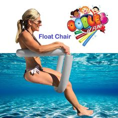 For convenient travel, storage, or anytime-use, the Floating Jumbo Noodle Chair provides extra buoyancy, comfort, adjust-ability, and ease of use. Sit or recline as desired by simply adjusting the noodle position under your legs and back. Enjoy semi-submerged comfort while sitting or lounging. Colors will match but vary from picture.