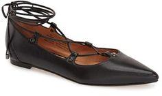 Halogen ® Halogen 'Owen' Pointy Toe Ghillie Flat (under $100)