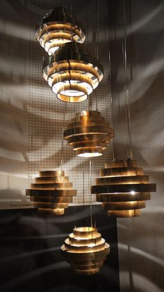 Milano 2013/New for 2013 Copper pendant light by Baxter.