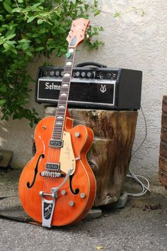 Wow! 1957 Gretsch 6120 + 1967 Selmer Treble & Bass 50 W mkIII both originals ! Those DeArmonds pickups are the best single coils pup ever made for clean sound lovers.