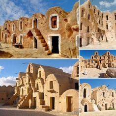 Tataouine, Tunisie : village ayant servi au tournage d'un des épisodes de Star Wars...