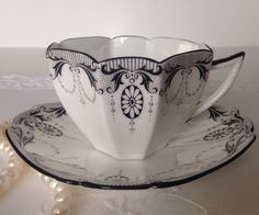 Hand Painted Shelley Queen Anne Tea Cup and by TheEclecticAvenue