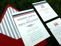Wedding Invitation  Nautical Design  Anchor by dhfitzgeralddesigns, $50.00