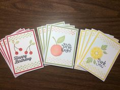 The Paper Hen: APPLE OF MY EYE Stampin Up stamp set.