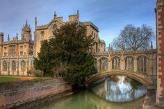 The Bridge of Sighs, Cambridge, England (by **Anik Messier**) via allthingseurope