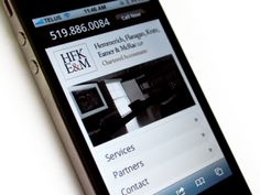 HFKE Chartered Accountants, Mobile Website