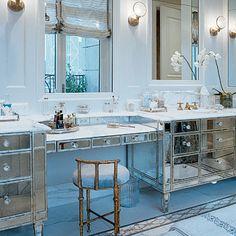 Old Hollywood Decorating Glamour Vintage Bathroom Inspiration