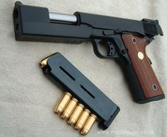 Colt M1911 .45 Automatic with Government Stabilizer http://www.modelguns.co.uk/images/stabilizer11.jpg Find our speedloader now! http://www.amazon.com/shops/raeind