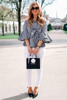 So kannst du schnell und einfach eine weiße Jeans Hose kombinieren. Zu diesem Outfit Thema, zeige ich euch ganz viele verschiedene Looks auf meinem Blog #outfitoftheday #outfitstyle #femininefashion #femininefashionideas