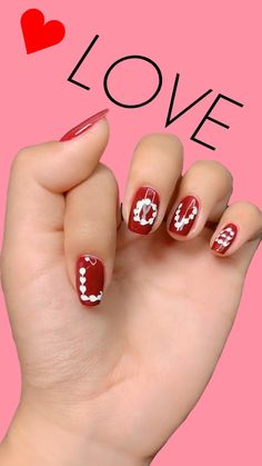 nail beauty- show you all kinds of nail desins and ideas for lady's beauty: beautiful nails, nail art, nail care, nail art designs, nails and beauty Gel Nail Art Designs, Nail Art Designs Videos, Nail Art Videos, Love Nails, Red Nails, Swag Nails, Grunge Nails, Jolie Nail Art, Nail Design Spring