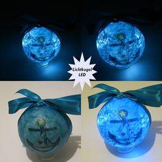 Lichtkugel  Maritim - Anker   LED - Batterie von ღKreawusel-Designღ auf DaWanda.com