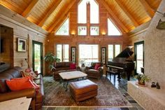Log home on 10.5 acres with panoramic vistas, 1 acre pond and 2 story art studio/workshop located in the West Virginia mountains. http://realplanz.com/?p=3040