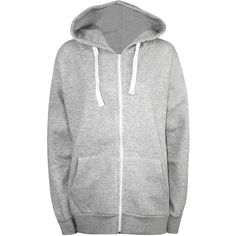 WearAll Plus Size Plain Zip Hoodie (75 PLN) ❤ liked on Polyvore featuring plus size women's fashion, plus size clothing, plus size tops, plus size hoodies, hoodies, jackets, outerwear, tops, casacos and grey