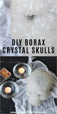 Want to Learn How to Make DIY Borax Crystal Skulls? Try this easy DIY borax crystal skull tutorial. Grow borax crystals on skulls and make your own DIY Halloween decor. Borax crystals DIY skull project is fun to make with kids - the crystals grow overnight LIKE MAGIC! Add food coloring or dye to tint the DIY borax crystals. Click through for more DIY borax crystals projects and growing borax crystals tips and tricks! Spooky Decor, Diy Halloween Decorations, Halloween Diy, Diy Crafts For Kids, Fall Crafts, Holiday Crafts, Borax Crystals, Diy Crystals, How To Make Diy