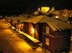 Old town and the river Porvoo. Christmas time <3