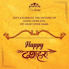 On this blessed day of Dussehra, the R.K's Aroma family wishes you all the light, happiness and prosperity you deserve!