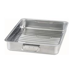 Ikea Koncis Roasting Pan with Grill Rack, Stainless Steel * Quickly view this special product, click the image : Roasting Pans Grilled Pork Chops, Grilled Meat, Baked Pork, Pork Roast, Pork Belly Burnt Ends, Best Pork Chop Recipe, Safest Cookware, Ikea Canada, Grill Rack