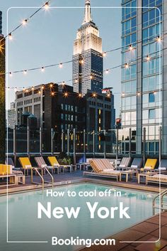 If the Big Apple is on your bucket list, we have a hotel for you. But summer's hot in the city, so check out these ways to cool down around town. Rooftop Pool, Outdoor Swimming Pool, Swimming Pools, Travel Articles, Travel News, New York Bucket List, New York Hotels, Last Minute Travel, City That Never Sleeps